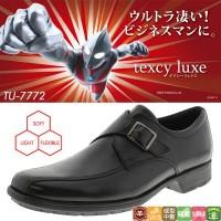 便利雑貨 アシックス商事 ビジネスシューズ texcy luxe テクシーリュクス TU-7772 ブラック 25.0cm