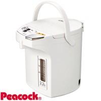 Peacock ピーコック魔法瓶 電動給湯ポット(2.2L) WMJ-22 ホワイト(W)お得 な全国一律 送料無料 日用品 便利 ユニーク
