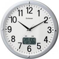 便利雑貨 キングジム 電波掛時計 デジサーモ GDK-002