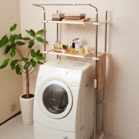 便利雑貨 セキスイ ステンレス洗濯機ラック SSR-40
