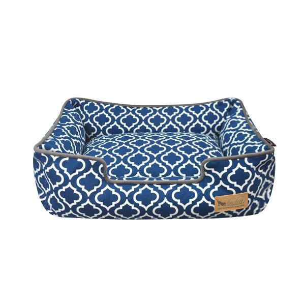 □便利雑貨 □ラウンジベッド S モロッカン ネイビーブルー□クッション ベッド・マット・寝具 犬用品 関連