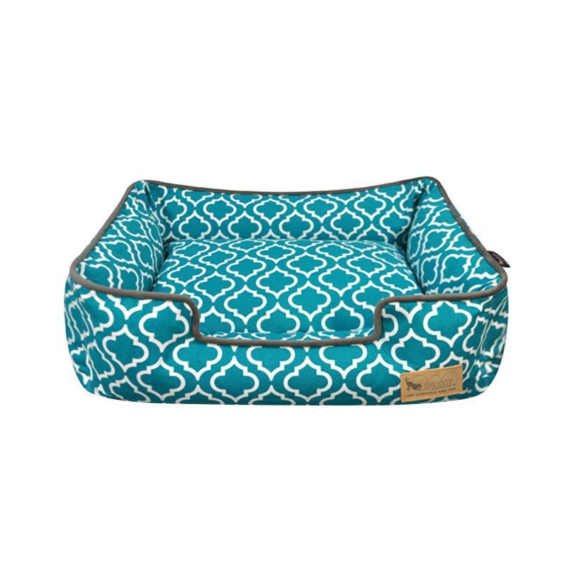 □便利雑貨 □ラウンジベッド S モロッカン ターコイズブルー□クッション ベッド・マット・寝具 犬用品 関連