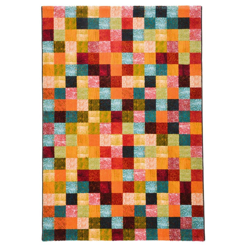 □便利雑貨 □ウィルトン織 ラグ カーペット じゅうたん PANDRA ブロック 約160×230cm 240610610