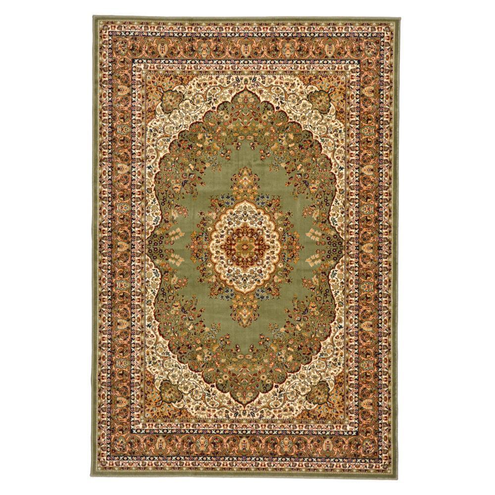 トレンド 雑貨 おしゃれ ウィルトン織 ラグ カーペット じゅうたん シャハリヤ 約160×230cm GN 240611506