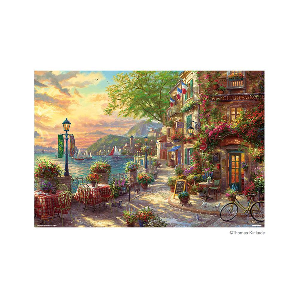 日用品 便利 ユニーク ジグソーパズル 1000ピース トーマス・キンケード リビエラの花咲くカフェ 31-492