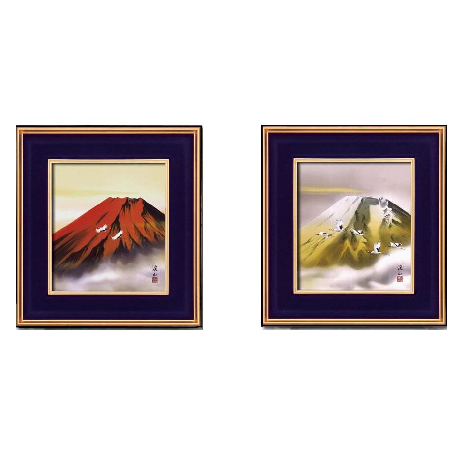 流行 生活 雑貨 色紙額 13234・赤富士