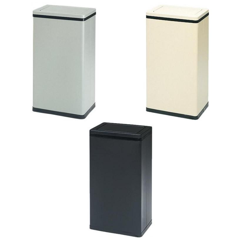 便利雑貨 角型ロータリー屑入Bライン 容量29.3L RSL ブラック・21□角型 ゴミ箱 インテリア・寝具・収納 関連