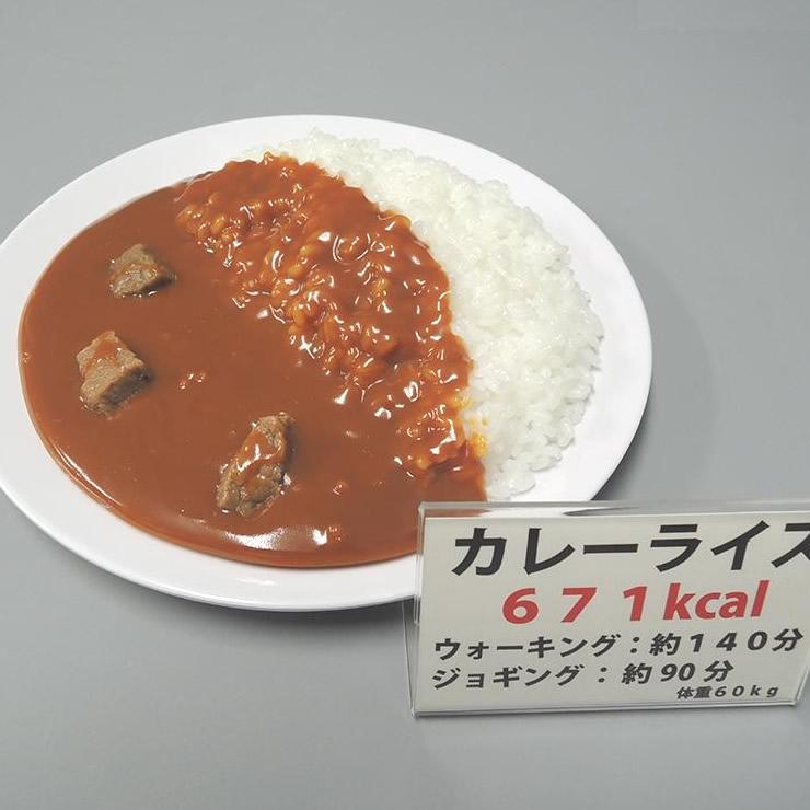 トレンド 雑貨 おしゃれ 食品サンプル カロリー表示付き カレーライス IP-545