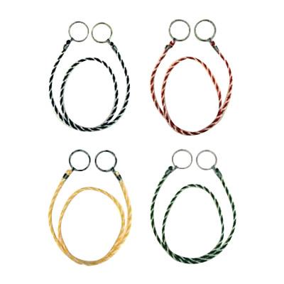 便利雑貨 カラーコーン用ロープ(カラー) 10本入 約2m 青×白