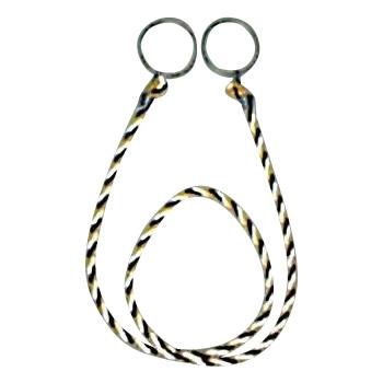 便利雑貨 カラーコーン用ロープ(反射標識) 10本入 約2m CC-31