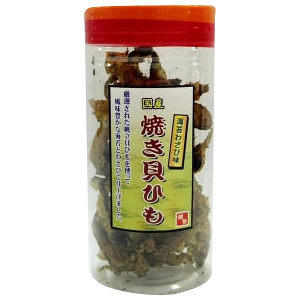 軽食品 国産 ポット焼き貝ひも 海苔わさび味 110g×12個