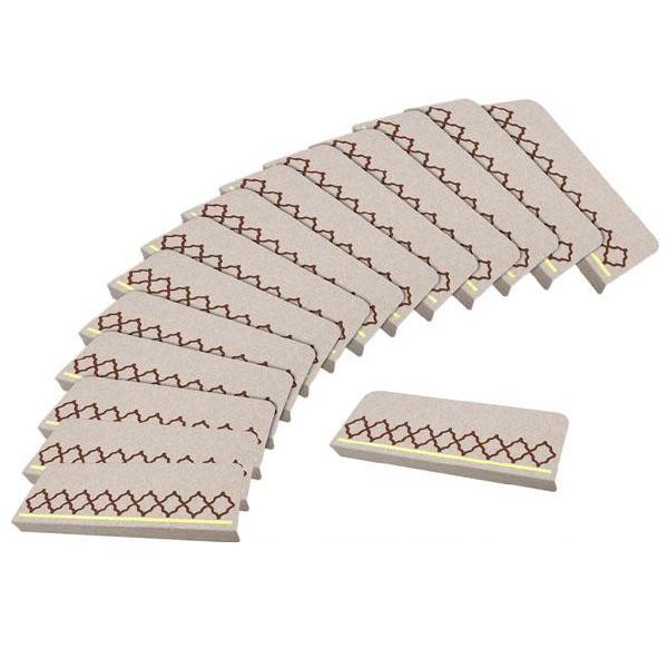 便利雑貨 おくだけ吸着 足元見やすい階段マット ネット LBE(ライトベージュ) 15枚入 KM-65