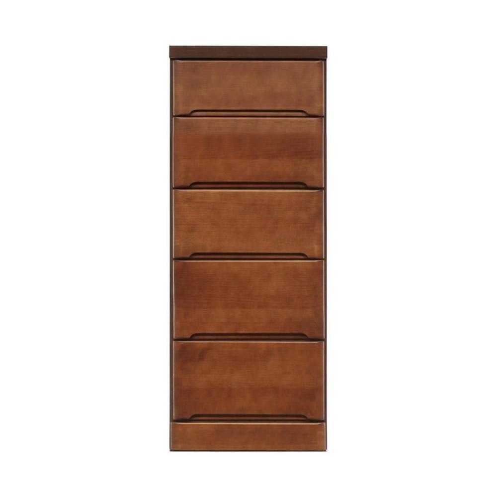 便利雑貨 すきま収納チェスト ブラウン色 5段 幅40cm