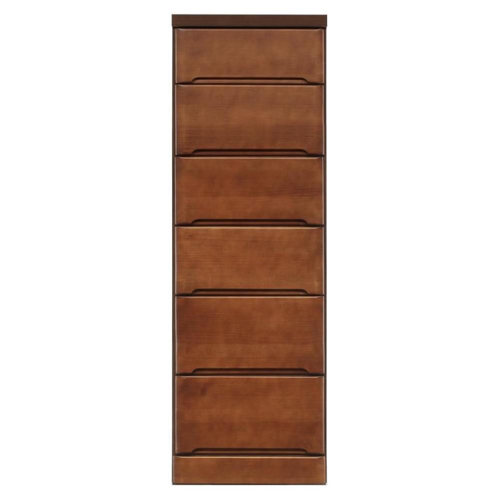 流行 生活 雑貨 すきま収納チェスト ブラウン色 6段 幅40cm