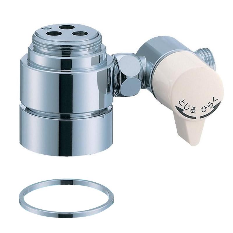 便利雑貨 シングル混合栓用分岐アダプター SAN-EI用 B98-A