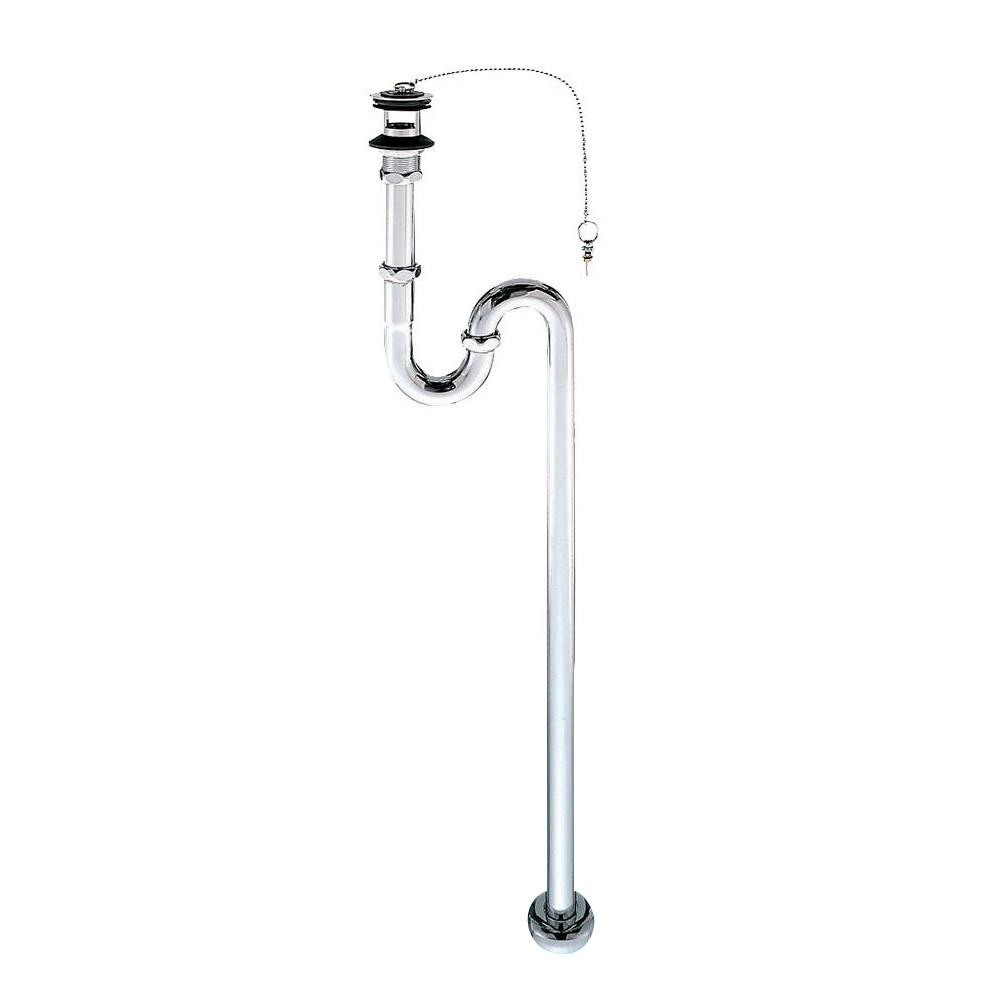 便利雑貨 オーバーフロー付洗面器、手洗い器用のSトラップ アフレ付SトラップPH70-32