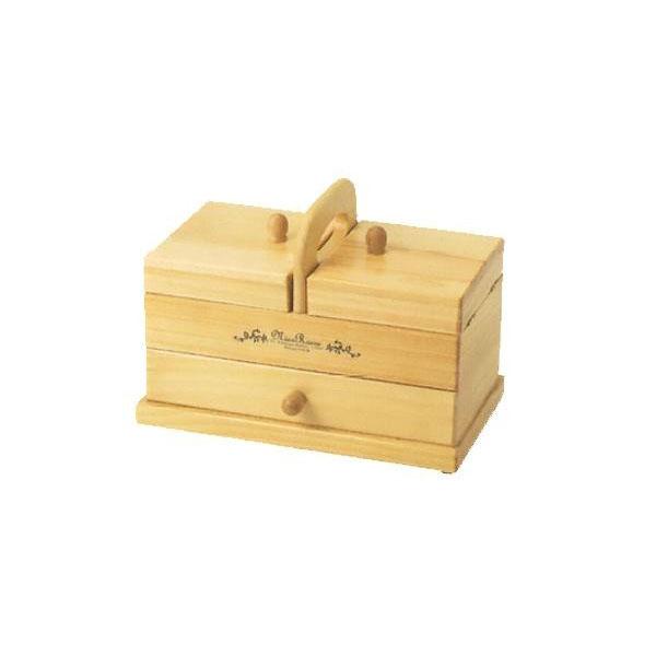 生活関連グッズ 木製手芸裁縫箱 ソーイングボックス750 202-750