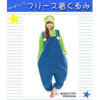 流行 生活 雑貨 サザック フリース着ぐるみ スーパーマリオ ルイージ BAN-058 フリーサイズ(大人用)