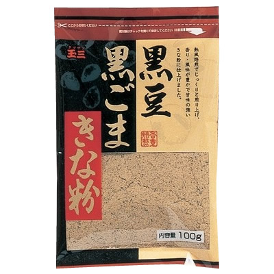 便利雑貨 玉三 黒豆黒ごまきな粉100g×40個 0273