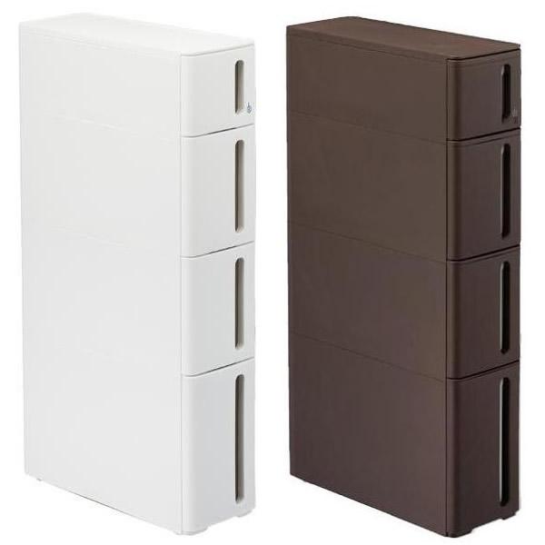 収納家具 プラスチックすきま収納ラック ドロアーA W170×D450×H850mm ホワイト・DA-1210WH人気 商品 送料無料 父の日 日用雑貨
