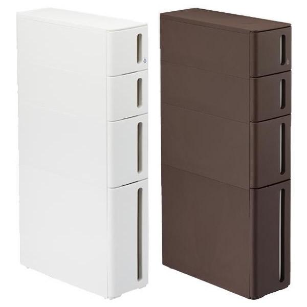家具/収納関連商品 storanti(ストランティ) プラスチックすきま収納ラック ドロアーC W170×D450×H850mm ホワイト・DC-2101WH