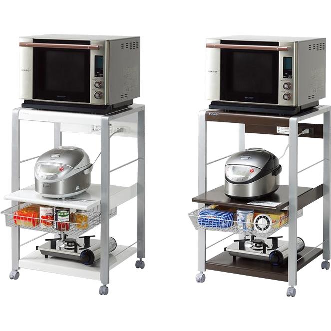 生活関連グッズ キッチン収納 関連商品 組立式 オープンラック ロータイプ ホワイト・ORL-101W