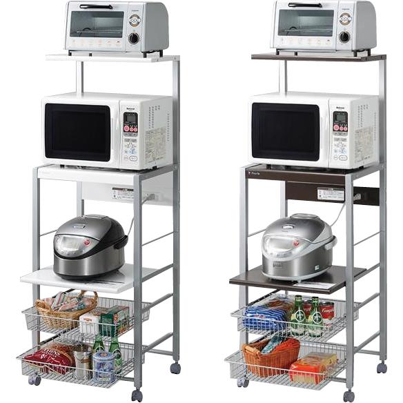 キッチン収納 関連商品 組立式 オープンラック スリムタイプ ホワイト・ORE-102W