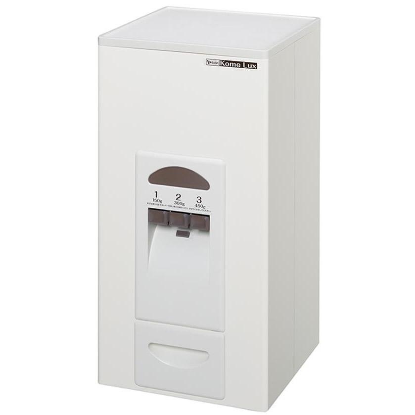 容器・ストッカー・調味料容器関連商品 MK(エムケー精工) 計量米びつ コメラックス 23kg収納 ホワイト RC-323W