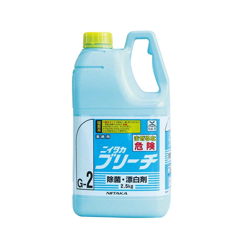 便利雑貨 掃除 関連商品 業務用 除菌・漂白剤 ニイタカブリーチ(G-2) 2.5kg×6本 234060