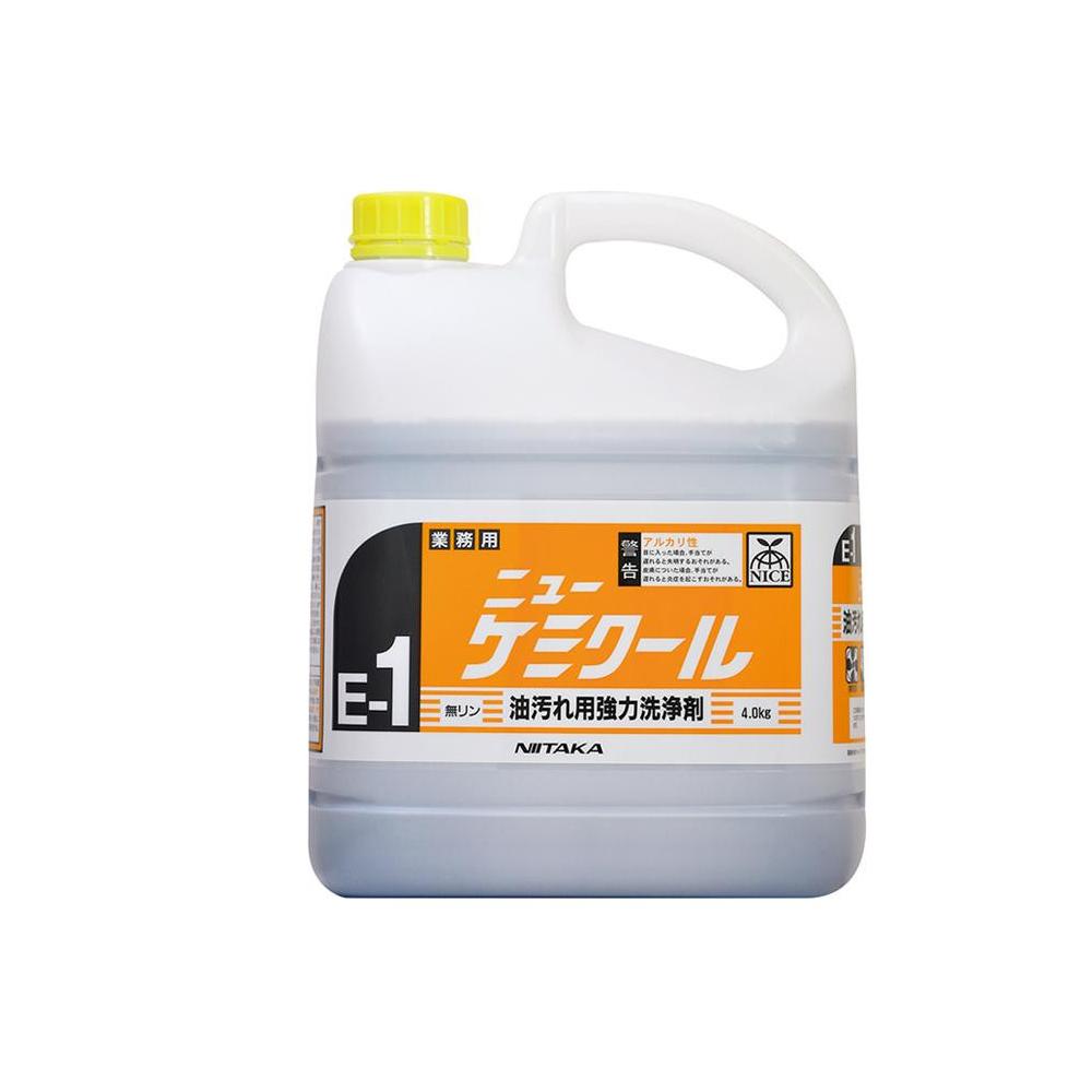 便利雑貨 洗剤 関連商品 業務用 油汚れ用強力洗浄剤 ニューケミクール(E-1) 4kg×4本 230131