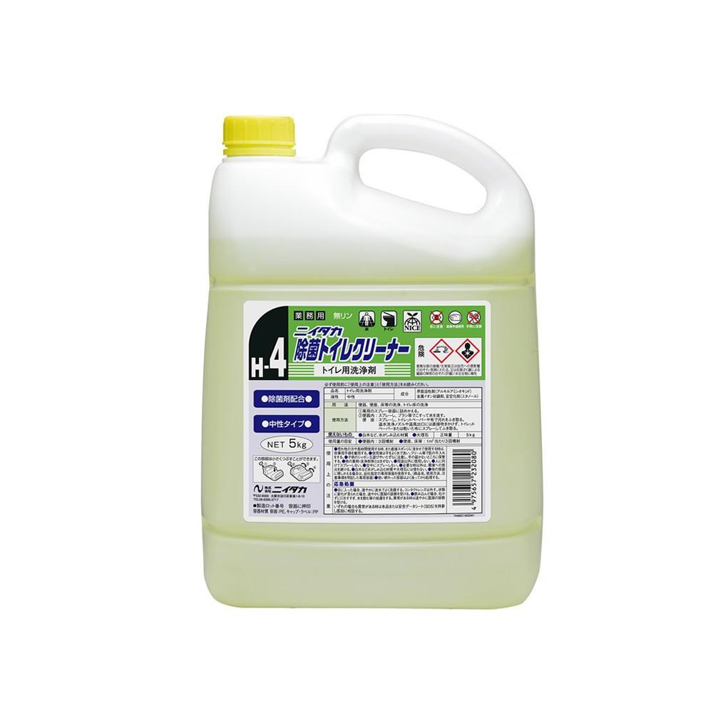 便利雑貨 トイレ掃除用品 関連商品 業務用 トイレ用洗浄剤 ニイタカ除菌トイレクリーナー(H-4) 5kg×3本 233130