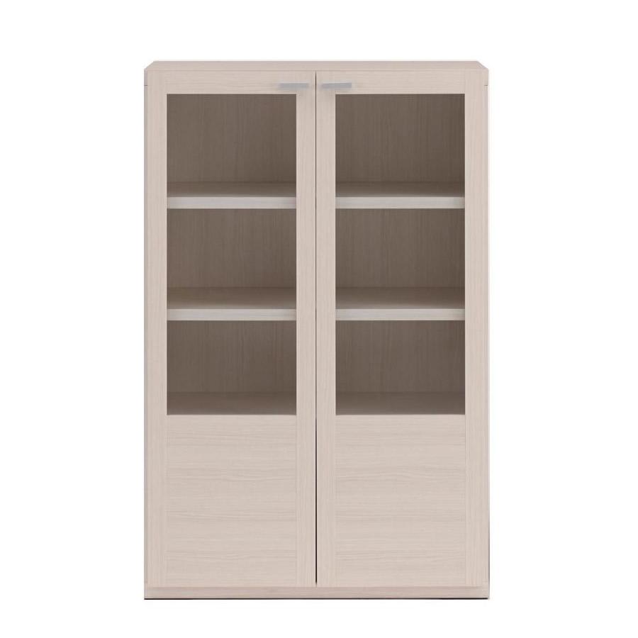 家具/収納関連商品 フナモコ 棚 ガラス戸 ホワイトウッド柄 GFS-74