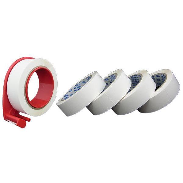 流行 生活 雑貨 文具 関連商品 巻きつけるだけでしっかり結束 ふしぎテープ(巾30mm×100m巻)×5個+業務用ディスペンサー1個セット MC30W-100-5R