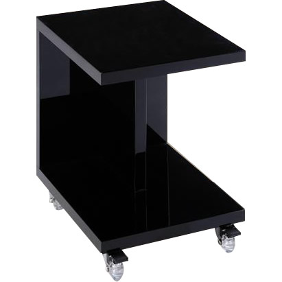 便利雑貨 家具 イス テーブル 関連商品 ナイトテーブル キャスター付き BK 33581