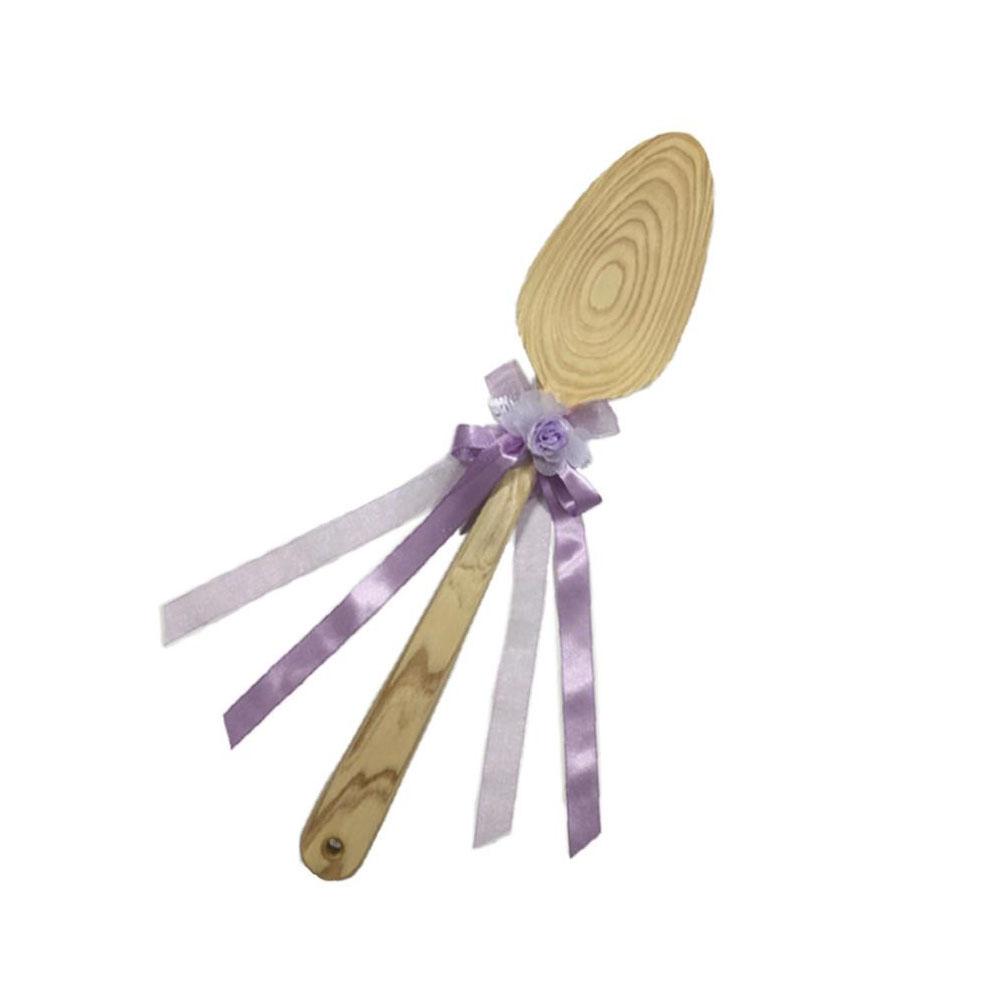 日用品 便利 ユニーク 冠婚葬祭 関連商品 ファーストバイトに ビッグウエディングスプーン 誓いのスプーン クリア 45cm 薄紫色リボン