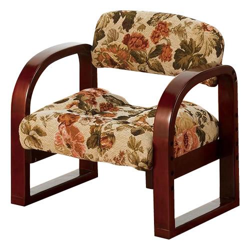 便利雑貨 家具 イス テーブル 関連商品 やすらぎ美尻座椅子 ゴブラン 花柄 YZ-02GB