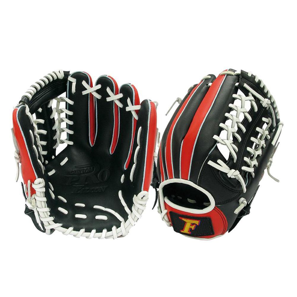 便利雑貨 スポーツ 関連商品 野球グラブ グローブ 軟式一般 オールラウンド用 Lサイズ ブラック×ホワイト FG-6510