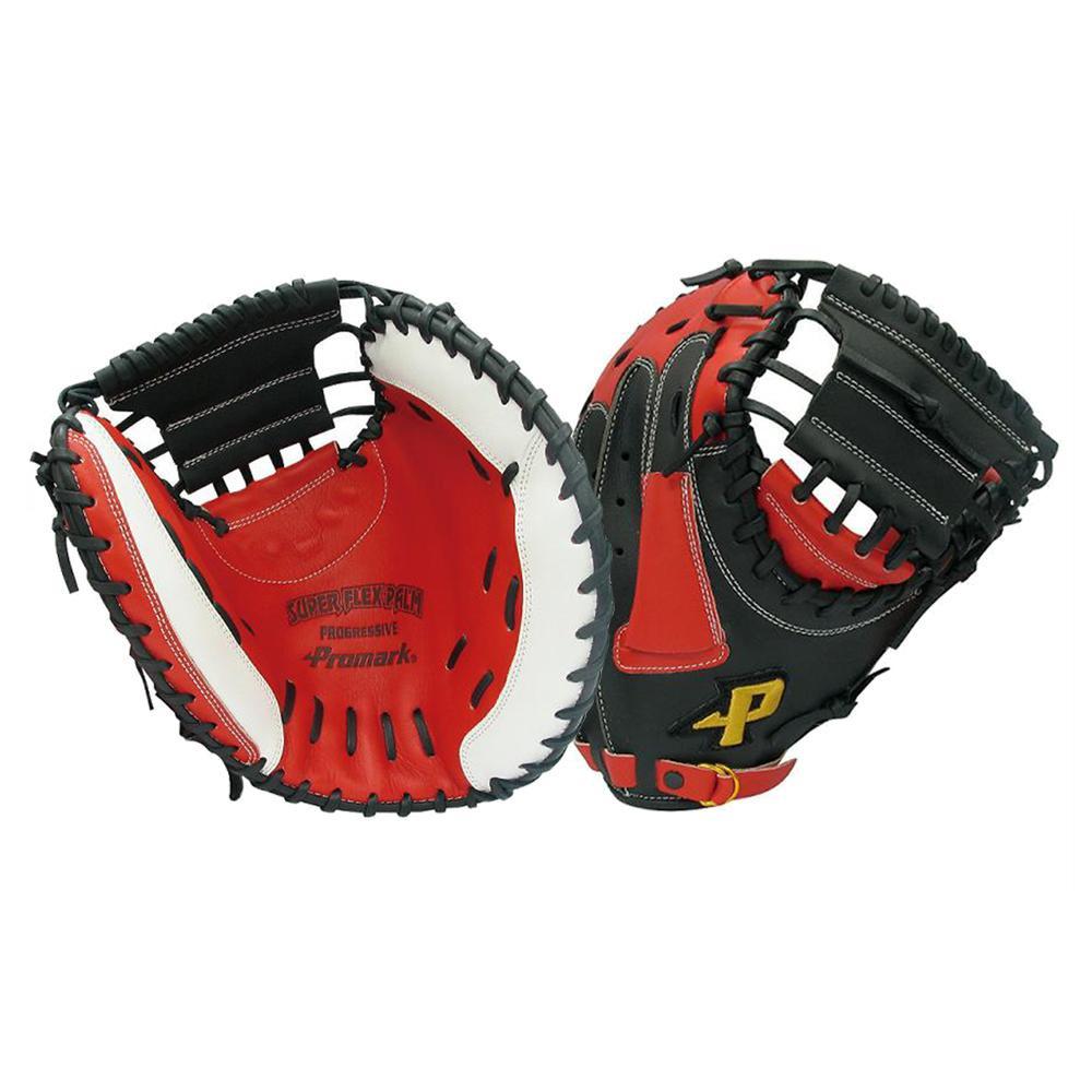 スポーツ 関連商品 グラブ グローブ ソフトボール一般 捕手用 キャッチャーミット レッドオレンジ×ブラック PCMS-4823