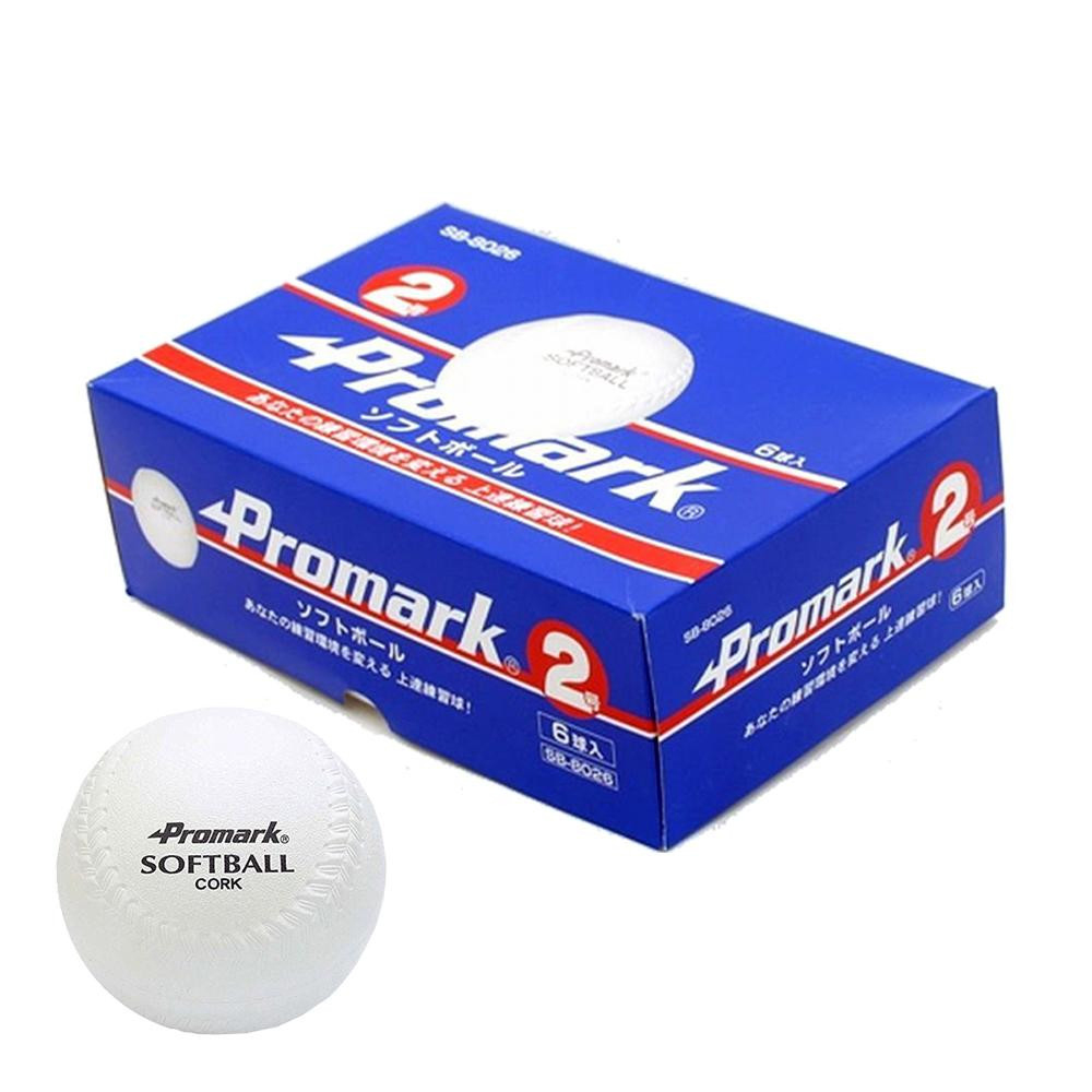 お役立ちグッズ スポーツ 関連商品 ソフトボール練習球6球入 2号球 SB-8026