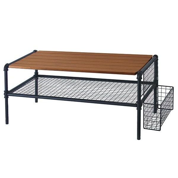 便利雑貨 家具 イス テーブル 関連商品 木×黒が放つクールな存在感 テーブル