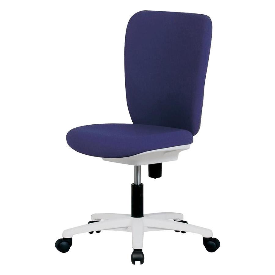便利雑貨 家具 イス テーブル 関連商品 オフィスチェアー JSチェアー ホワイトシェル・ホワイトレッグタイプ・ハイバック・肘なし JS-35WH-DB・ダークブルー