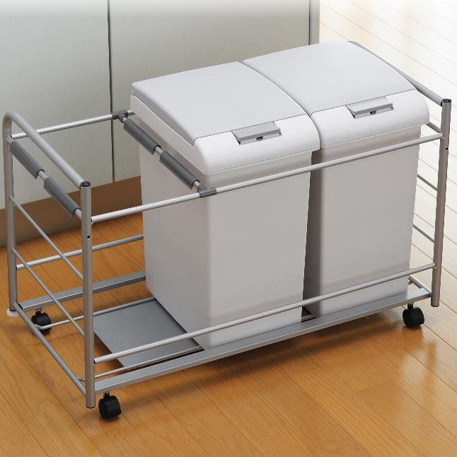 便利雑貨 掃除 関連商品 扉面材取付対応 ダストペールワゴン JE2□キッチンワゴン キッチン収納 収納家具 関連