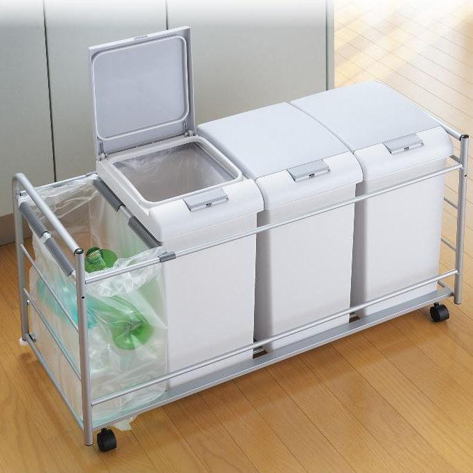 便利雑貨 掃除 関連商品 扉面材取付対応 ダストペールワゴン JE3