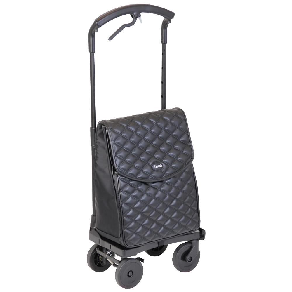 生活関連グッズ シルバー用品 関連商品 おとなりカート ブレーキ付き ベーシックタイプ WCC08-BK・ブラック キルティング