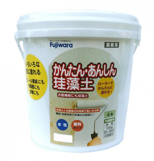 作業 DIY ローラーで簡単に塗れる!! 便利 かんたん・あんしん珪藻土(内装調湿形仕上塗材)10kg ホワイト