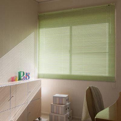 カーテン しなやかスラット採用のアルミ製ブラインド。 暮らし 便利 アルミブラインド 128×138cm アイボリー