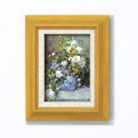 絵画 お洒落 人気 ルノワール名画額サム 「花瓶の花」(立体加工付き) 17723