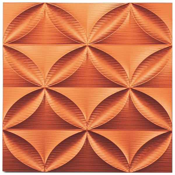 便利雑貨 プラデック ウォール アート エコー(メタルオレンジ) PL-18013