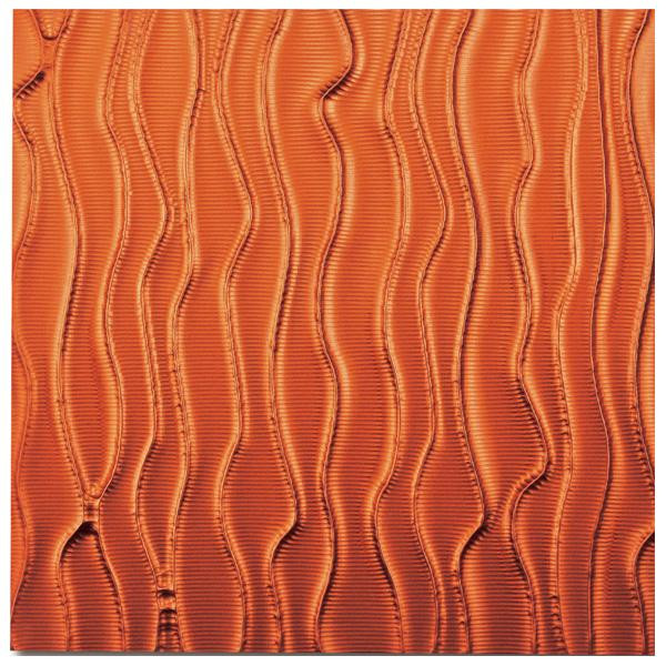 便利雑貨 プラデック ウォール アート ウェーブ(メタルオレンジ) PL-18015