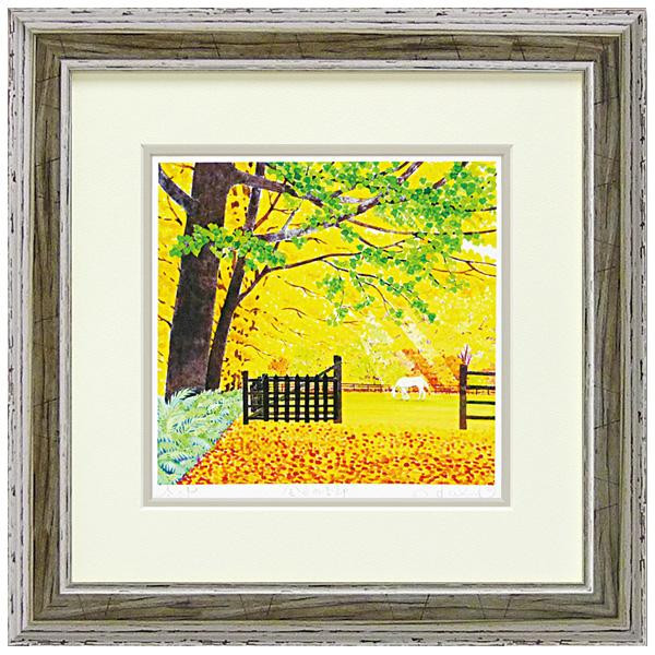 便利雑貨 ジクレー版画 「金色の季節」 KH-10143